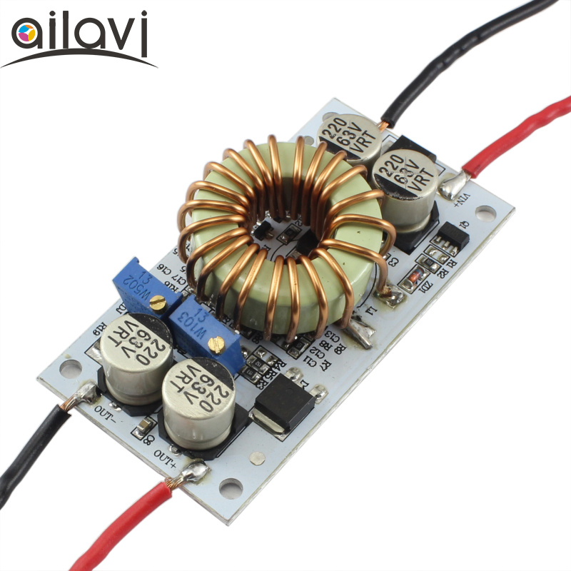 DC-DC Boost Converter Adjustable 9~48V To 10~50V10A Step Up Constant Current Power Suppl ...