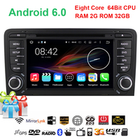 7 Octa 8 Core 64bit 32GB Android 6 0 Car DVD Player 2 Din For Audi