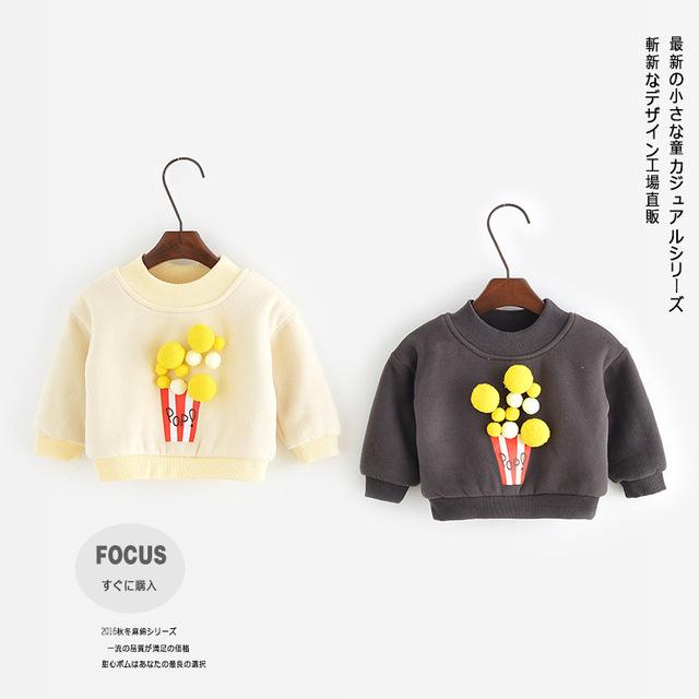 Camisa dos miúdos t 2016 Meninos inverno camiseta de manga longa para as meninas tops infantil Bobo choses crianças roupas kids wear