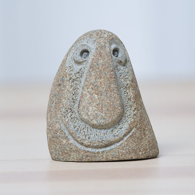 3 Different  Mood face stone Figure statue Crafts Art Home Hotel Decoration Accessories Gift Geometry Ornament hogar moderno 3