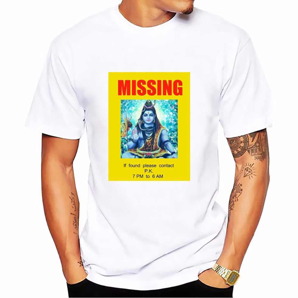 India film P.K. Leaflets funny t shirt homme jollypeach white casual tshirt man Short Sleeve Breathable Plus Size T-shirt men