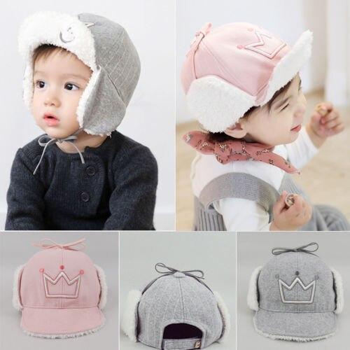 Helen115 Kids Baby Girls Hats Cotton Infant Cap Tie Up Beanie Stretchy Newborn Hat 5-45M
