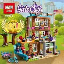 LEPIN 01063 Da Série Da Menina Amizade Casa modelo de Blocos de Construção Tijolos Educacionais Brinquedos para Presentes do Aniversário Dos Miúdos LegoINGlys 41340