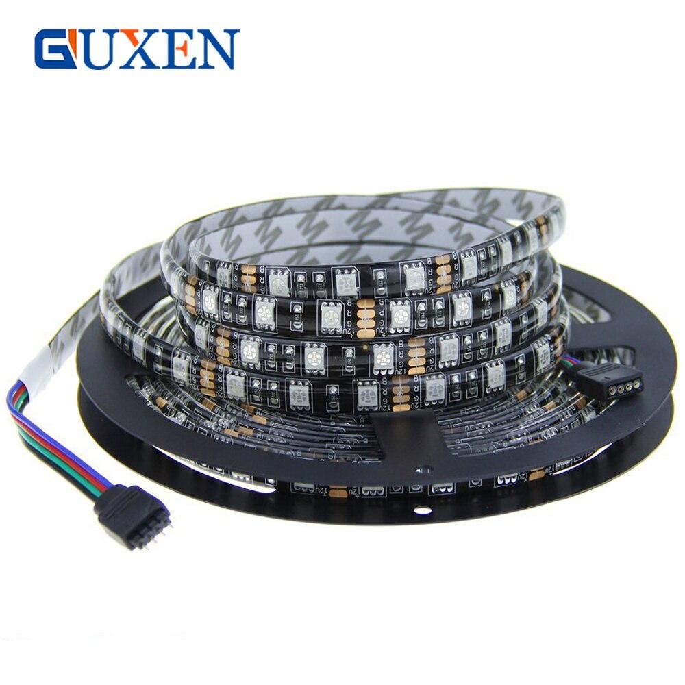 GUXEN 5050 Schwarz PCB Led-streifen 5 Mt 300led DC 12 V Waterptoof ...