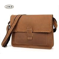 J.M.D High Quality Genuine Cow Leather Black Classic New Envelop Design Crossbody Handbag Fashion Shoulder Crossbody Bag 1009B