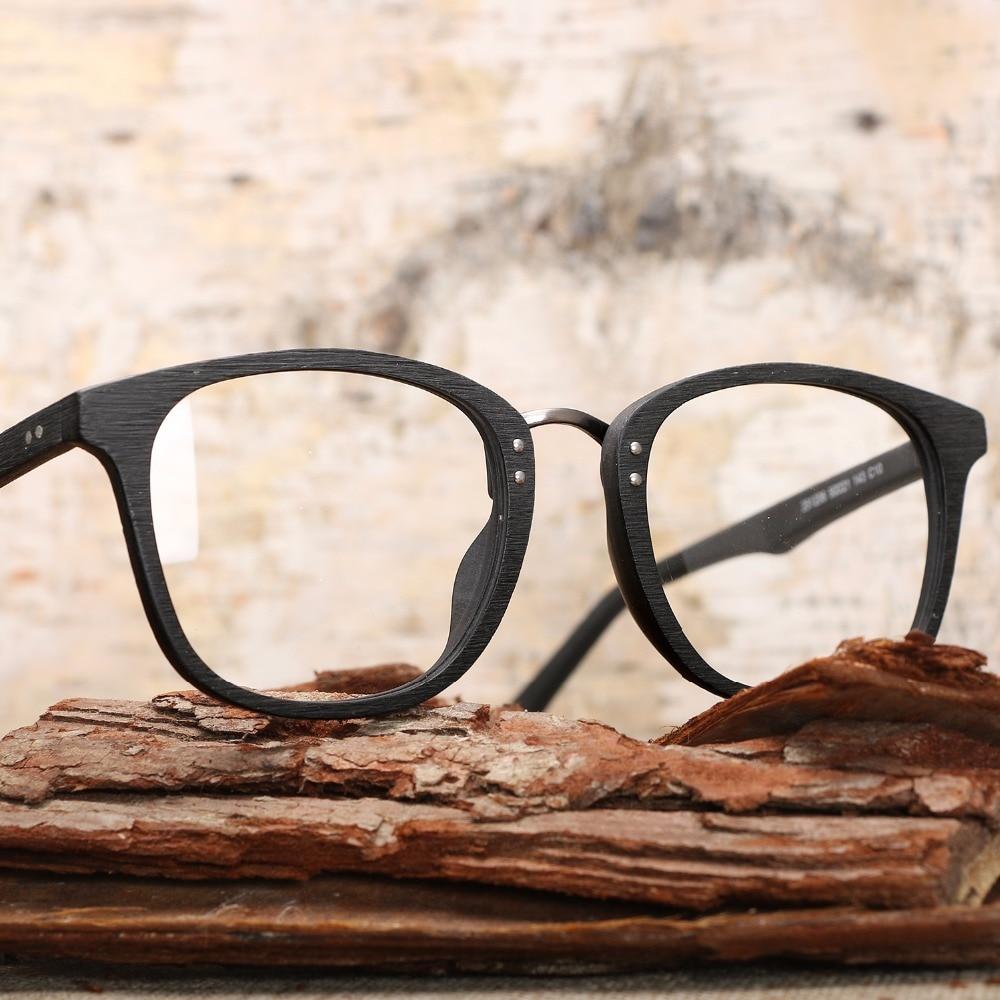 8edbf05e65 2017 HDCRAFTER High quality Vintage clear lens glasses wood glasses frames  men computer reading eyewear frames for women-in Eyewear Frames from Men s  ...