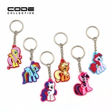 6 Models Phone Accessories Animation Cartoon Rings Trinket Soft PVC Keychain Key Holder Key Chains Souvenirs Creative Ornaments