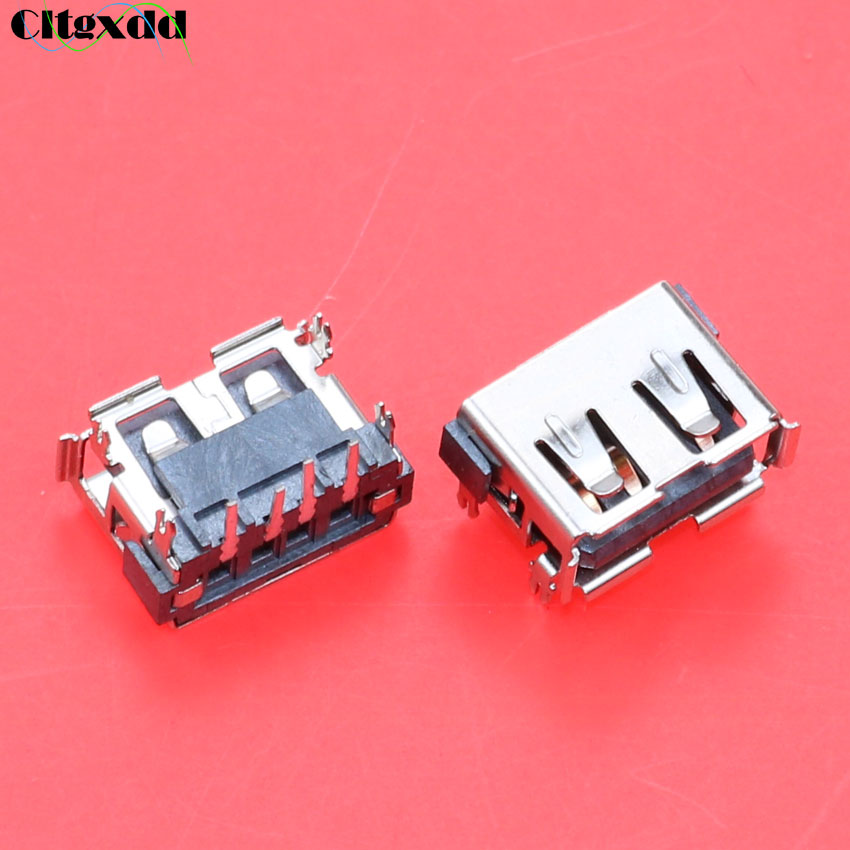 Cltgxdd 10pcs USB 2.0 Jack Plug 4 Pin Female Socket Motherboard Connector For Acer Aspire 5232 5241 5516 5517 5532 5541 5743Z