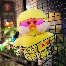 INS New Lalafanfan CafeMimi kawaii Stuffed Toys Supid Lovely Yellow Duck Plush Dolls For Girls Children Birhday Gift 30CM