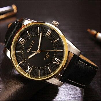 66abd387cd84 Reloj de pulsera de oro yazol para Hombre de marca superior de lujo ...