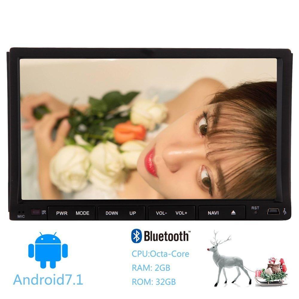 Android 7.1 8-core Autoradio 2Din Au Tableau de Bord De Voiture Bluetooth stéréo Autoradio GPS WIFI 4G OBD2 Miroir Lien Volant contrôles
