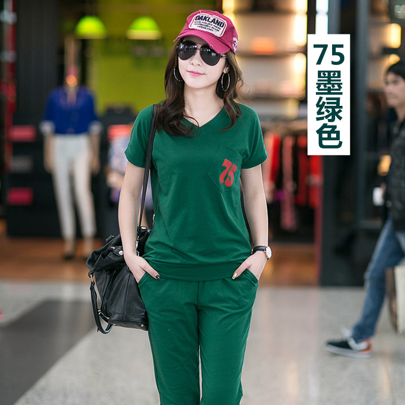 Women Suit 2 Piece Set Women Fashion Summer Sweatshirt Set Casual Suits For Women Tops+Pant Plus Size tracksuits M-3XL Z2495 4