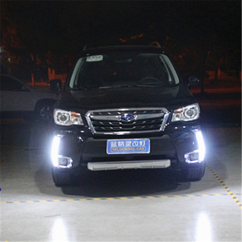 2 Pcs For Subaru Forester 2013 2014 2015 DRL car styling Led yellow turn signal Daytime