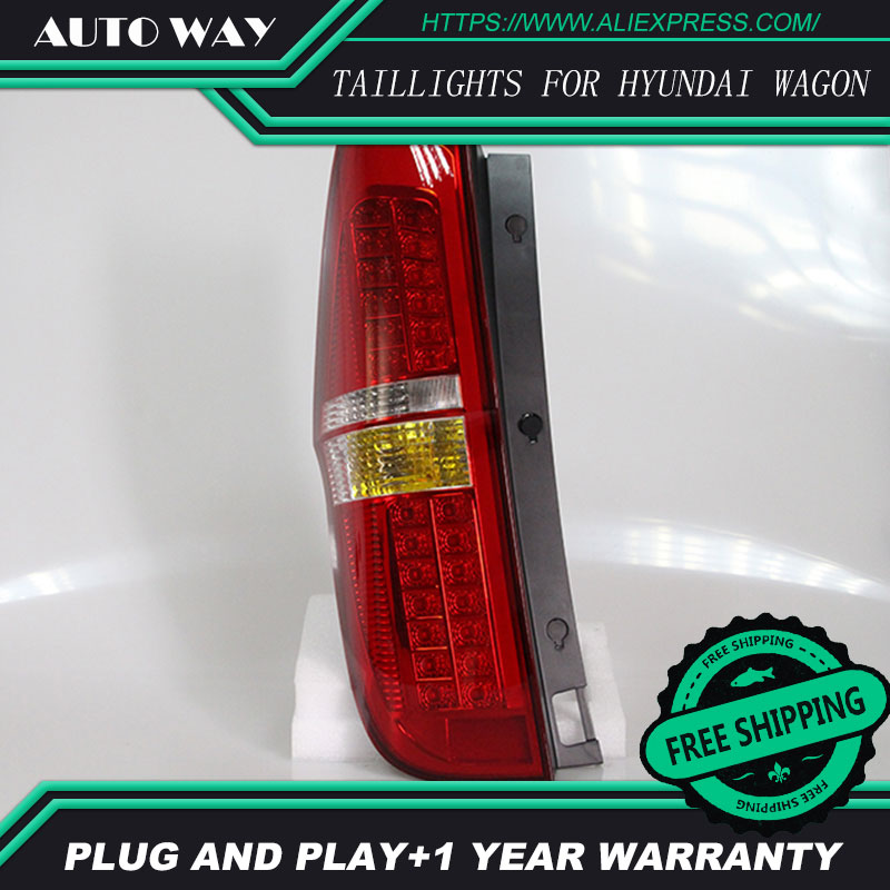 Car Styling tail lights for Hyundai H-1 Wagon taillights LED Tail Lamp rear trunk lamp cover drl+signal+brake+reverse car styling tail lights for hyundai santa fe 2007 2013 taillights led tail lamp rear trunk lamp cover drl signal brake reverse