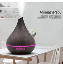 400ml USB Wood Grain Electric Aroma Essential Oil Diffuser LED Lights Ultrasonic Air Humidifier Aroma Diffuser for Home