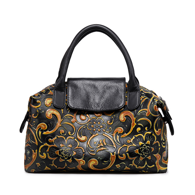 2018 New Phoenix Rose Printing Pattern Women Shoulder Bag Genuine Leather Fashion Luxury Handbags Bags Designer Tote In From Luggage