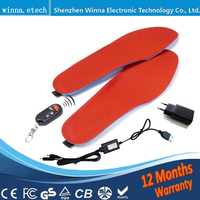 BEST GIFT NEW ARRIVAL USB Electric Powered Heated Insoles For Shoes Boots Keeping Feet Warm