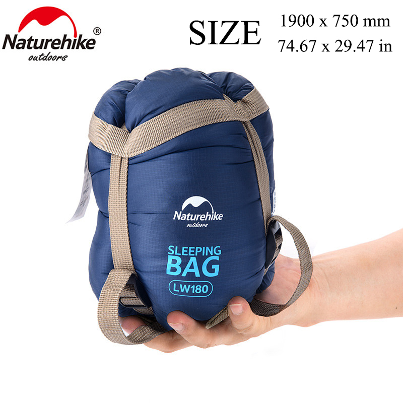 NatureHike Spring 190x75cm Warm Weather Outdoor Ultralight Envelope Cotton Sleeping Bag For Camping Hiking Climbing
