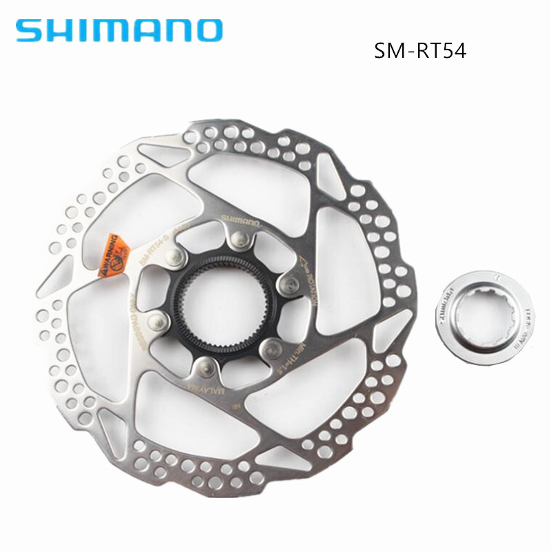 1pcs SHIMANO DISC BRAKE ROTOR SM RT54 CENTER LOCK SUIT XT SLX DEORE 160MM 180mm цена