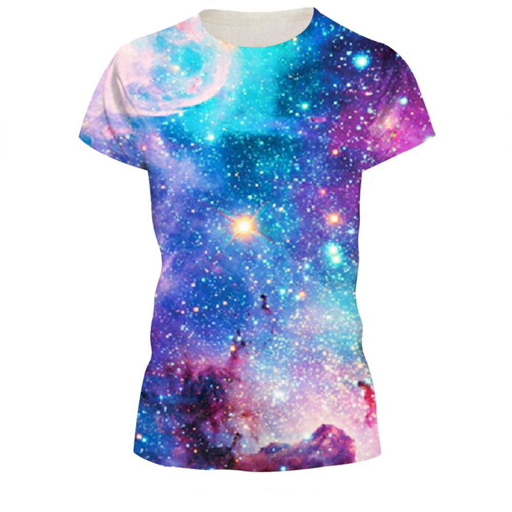HTB1keHlQXXXXXa0apXXq6xXFXXX1 - T-shirt blue sky digital print 3D short-sleeved women's shirt