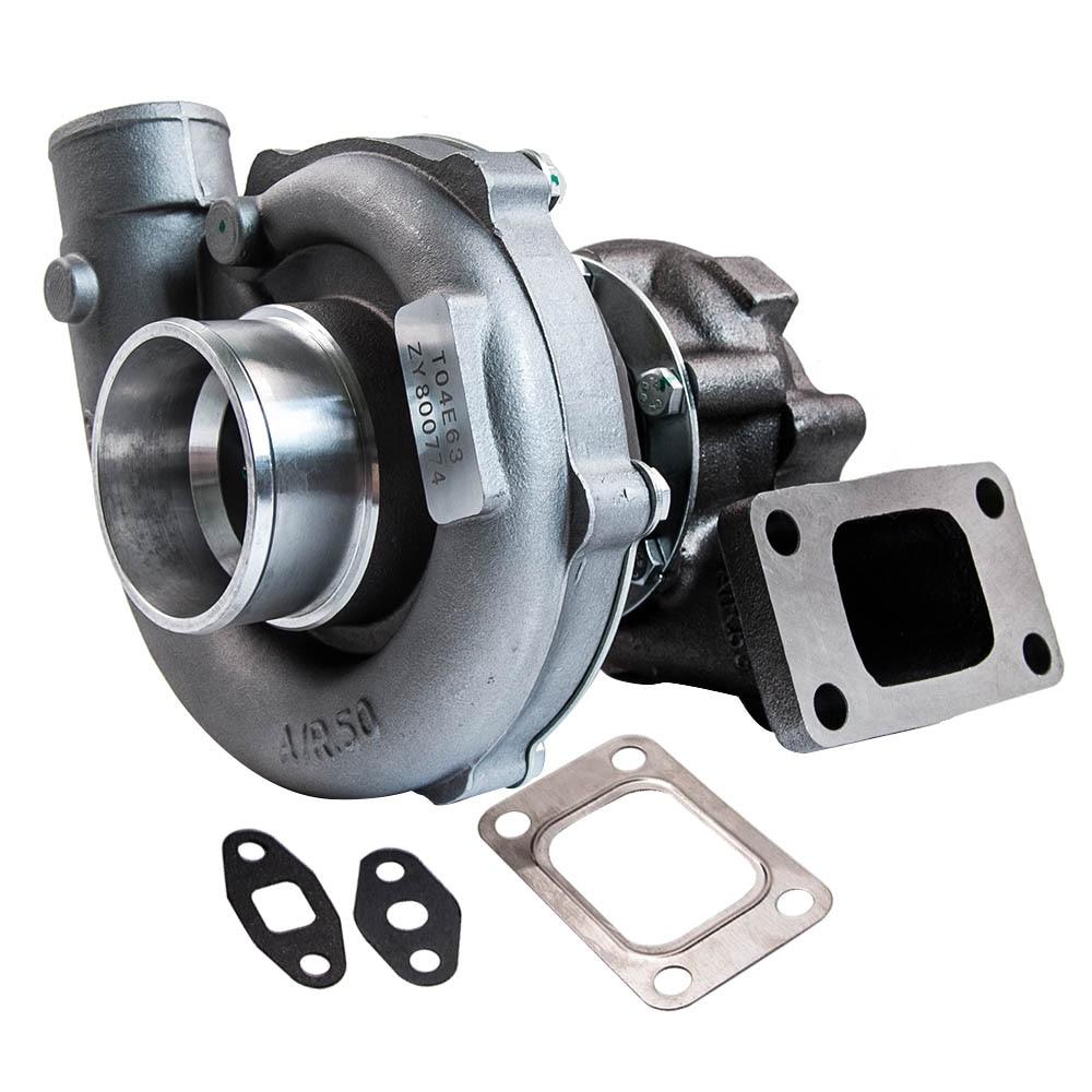 T3 T4 T04E Turbo Universal Turbocompressor 1.6L-2.5L 5 Bolts / T3 Flange 300+HP T3 Flange Turbine Turbocharger Engine скобы max t3 13mb tg a t3 13mb