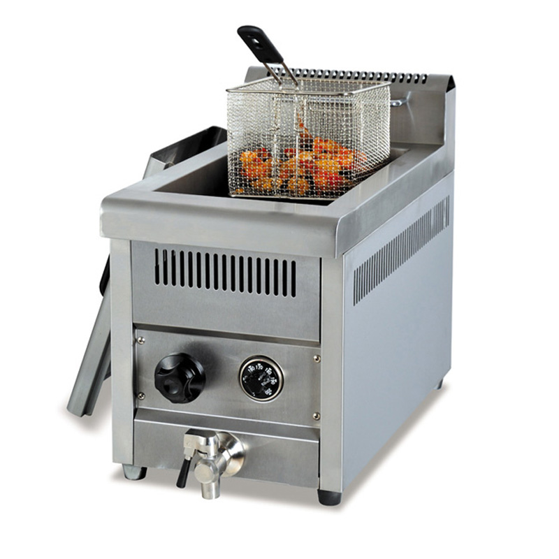 Stainless Steel Counter Top 14L capacity Gas Fryer, Gas ...