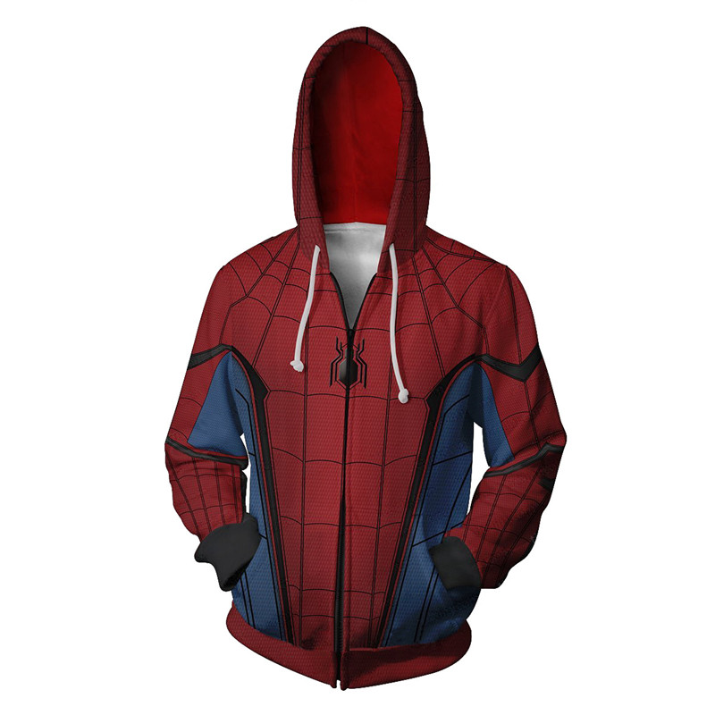 Newest Arrivals Spider-Man Far From Home Hoodie 3D Print Male Oversized Spiderman Hoodies Superman Tracksuit Sweatshirt Jacket