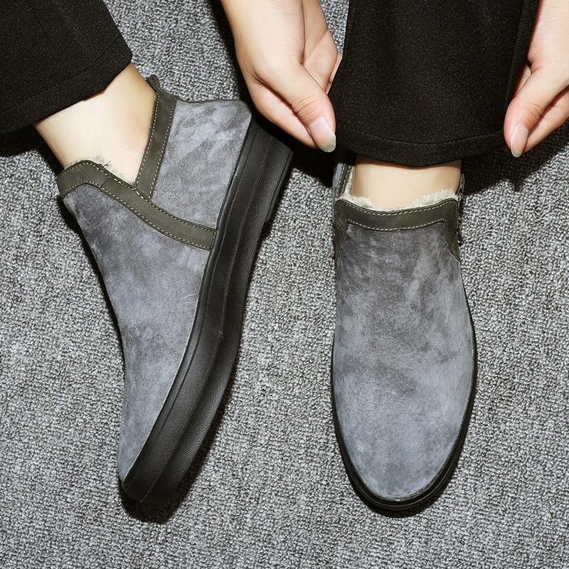 Invierno Gris Gamuza Zapatos Aire Botas Libre Para Calidad Caliente De Al Nieve Size47 Cuero Hombres Piel 40c Los pwT0Xq