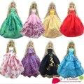 Девочка дети подарок на день рождения 5 шт. платье Doll' s свадебное платье невесты одежда платье для куклы барби