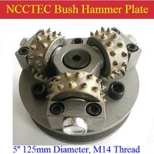 5 ''NCCTEC оцинкованная поверхность Буш молотковая пластина для Буш молотый гранит мрамор | 125 мм поверхность литчи сплава колеса диск | 3 Биты