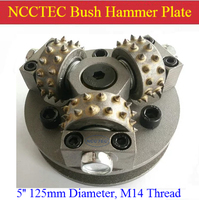 5'' NCCTEC Galvanized surface bush hammer plate for bush hammered granite marble |125mm Litchi surface alloy wheel Disk | 3 bits