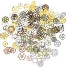 100G/ Lot Jewelry Craft Vintage Cogs Pendant Wrist Watch Mix Alloy Gear Mechanical Steampunk Bracelet Accessories Old Parts DIY