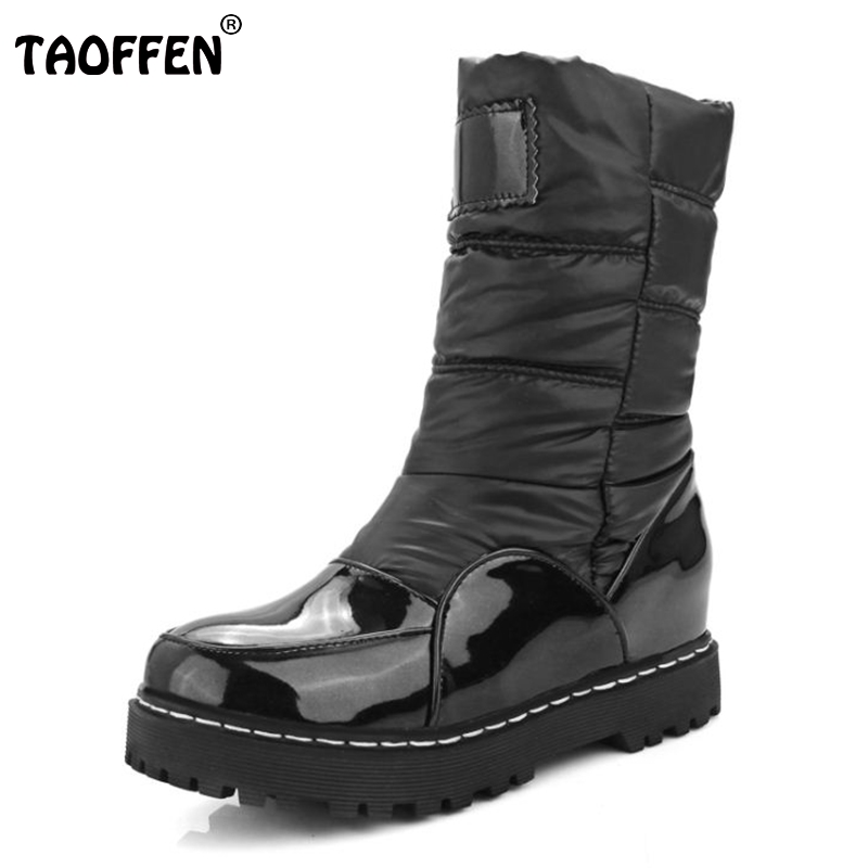 New Winter Woman Mother Boots Slip-Resistant Waterproof Cotton-Padded <font><b>Shoes</b></font> Thermal <font><b>Maternity</b></font> Plus Snow Boots Size 33-43