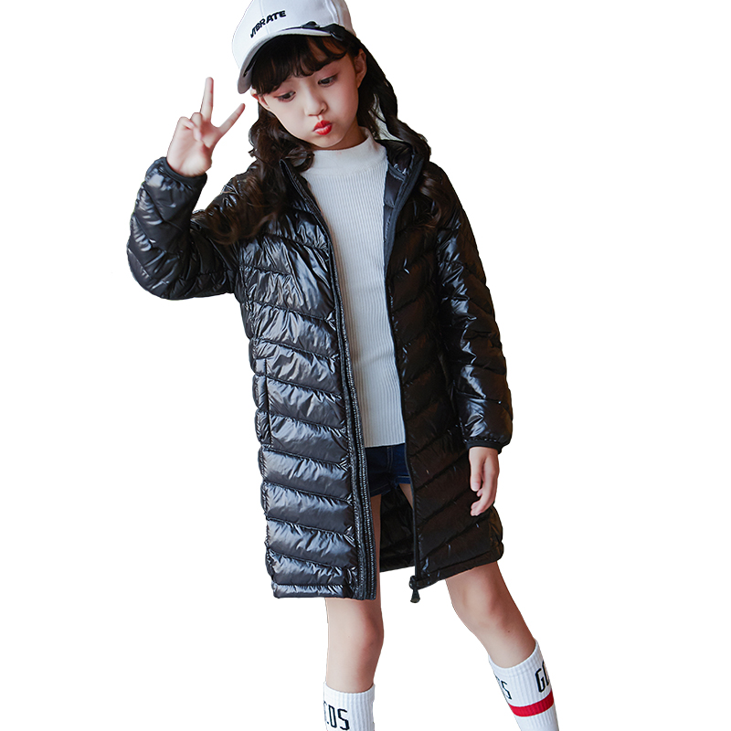 Girls White Duck Down Parka 4 5 6 7 8 9 10 11 12 13 Years Winter Warm Long Sleeve Solid Kids Jackets Brand Children Clothing lf40203 sexy white pink blue strappy heart heel wedge wedding sandals sz 4 5 6 7 8 9 10