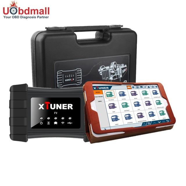 Win10 HD Диагностический Tablet + XTUNER T1 WI-FI Heavy Duty диагностический Инструмент Для Дизельных Грузовиков с Специальная Функция ABS EPB подушка безопасности