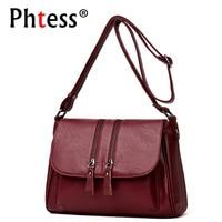 2018 Luxury Handbags Women Bags Designer Female Leather Shoulder Bags Crossbody For Women Vintage Flap Messenger