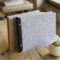 Felt Cover Manual DIY Album Scrapbook Polaroid PP Bag Protection Album Home Decoration Personalized Baby Couple Photo Album