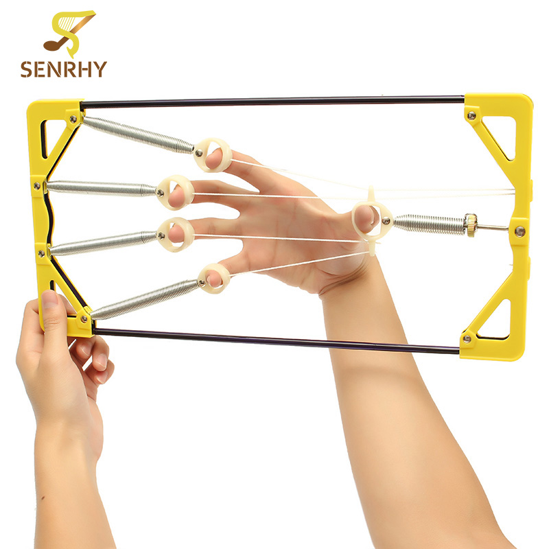 Senrhy Adjustable Musical Finger Hand Power Up Trainer Hand Grip Exerciser For Guitar Music Sport Player Guitar Accessories цена и фото