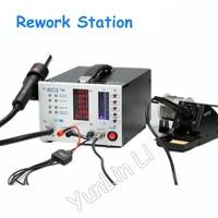 110V/220V Digital Hot Air Rework Station Built in External Power Supply Soldering Iron AOYUE 768