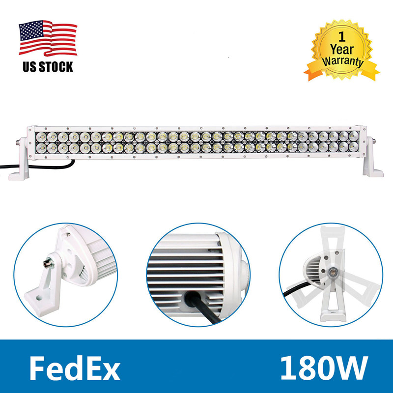 Yetaha 32'' 180W LED Work Light Bar Car Driving Lights Lamp Combo Spot Flood Beam 16200LM White Car For Jeep Offroad  SUV 4WD super slim mini white yellow with cree led light bar offroad spot flood combo beam led work light driving lamp for truck suv atv