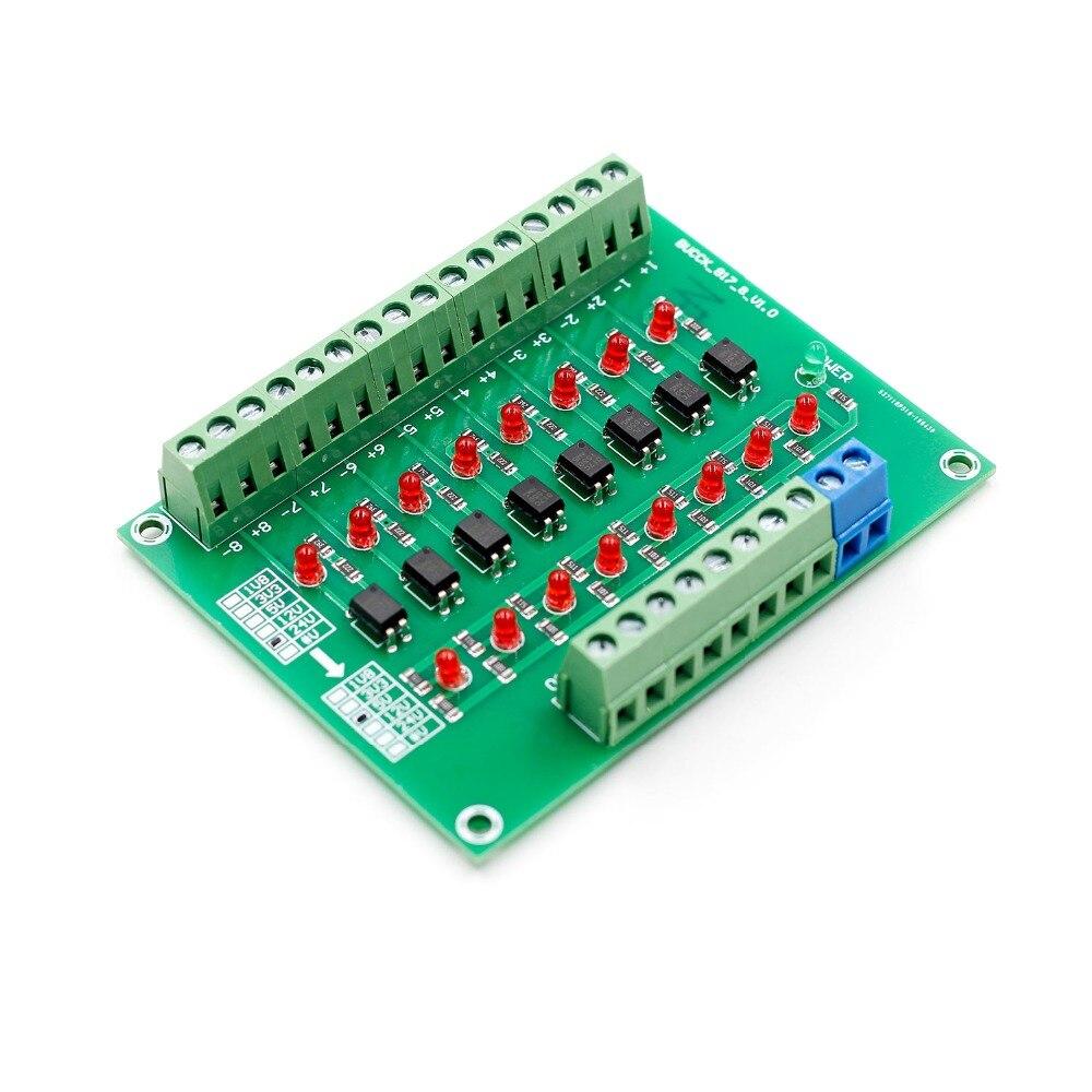 24V To 5V 8-Channel 8bit Photoelectric Isolation Converter Level Voltage