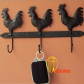 Iron hook hangers coatless wall mount clothes accessories display rack 3