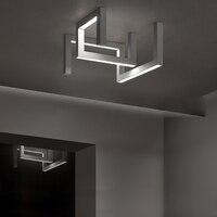 LED Modern Geometric Iron Acryl Black White LED Lamp.LED Light.Ceiling Lights.LED Ceiling Light.Ceiling Lamp For Foyer Bedroom