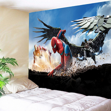 Spiderman Tapestry Wall Hanging Anime Decorative Hippie Tapestries for Kids Bedroom Game Home Decor Large Size Cloth Gifts