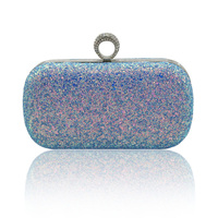 Luxury Popular Women Both Sides Colorful Sequins Evening Bags Figure Ring Day Clutches Purse Bling Bags