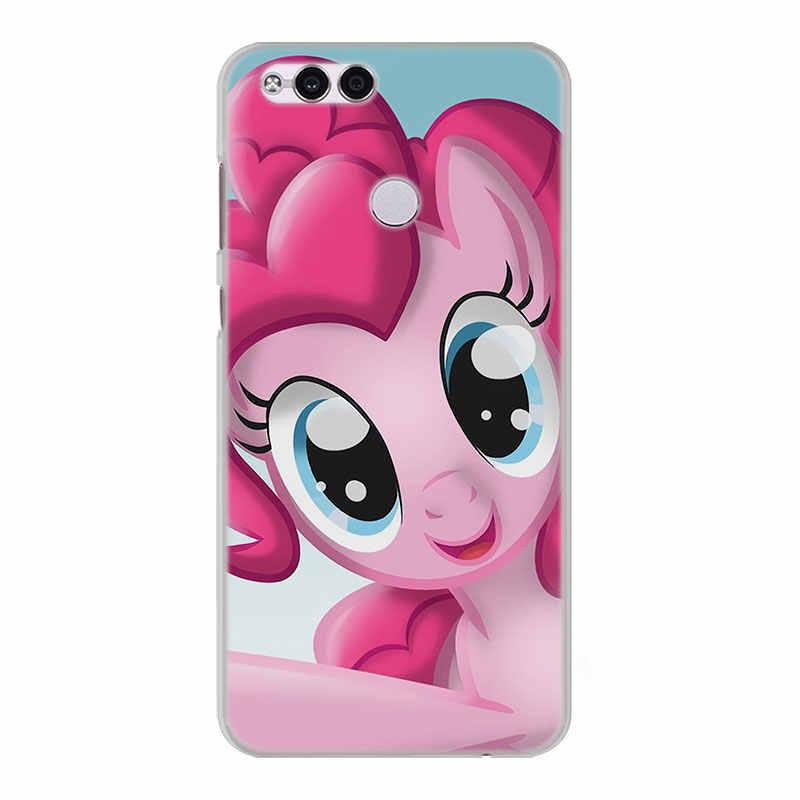 Rainbow dash My Little Pony Прозрачный кадр жесткий чехол для телефона чехол для huawei Honor 8 9 Lite 10 10 Lite 6X7X7 s 4C 6C Pro