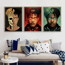 Home Decoration HD Print Nordic Style Xxxtentacion Rap Singer Painting Wall Art Canvas Picture Watercolor Bedroom Modular Poster(China)