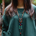 fashion ethnic top layer of leather jewelry Tibetan necklace,vintage turquoise necklace ,New women Indian pendants necklace