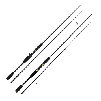 цена на New Lure Fishing Rod 1.8m 2.1m 2.4m 2 Section MH Power Fishing Pole Carbon Fiber Spinning/Casting Travel Rod Fishing Tackle