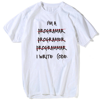 I HATE PROGRAMMING FUNNY t shirt men Computer Programmer Coding Eat Sleep Code Programming JAVA HTML Comedy Short Sleeve image